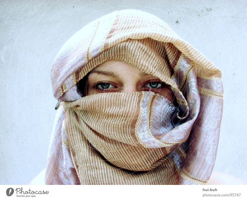 Woman Eyes Wall (building) Warmth Religion and faith Feasts & Celebrations Protection Physics Train station Rag Scarf Vail Festive Packaged Moral Arabia