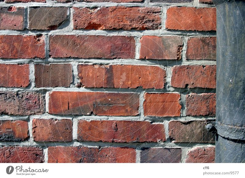 Wall (barrier) Architecture Brick Seam Gutter Rain gutter