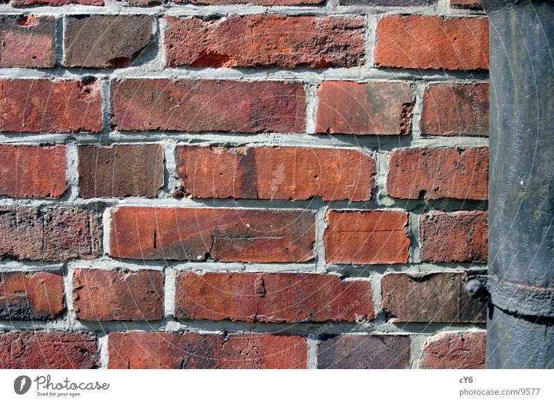 wall Wall (barrier) Brick Rain gutter Architecture Seam