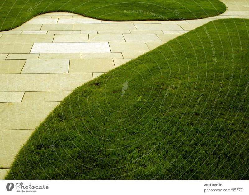 Federal Chancellor Federal Chancellery Spreebogen Green space Meadow Grass Geometry Linearity Abstract Design Obscure Middle Seat of government Lawn landscaping