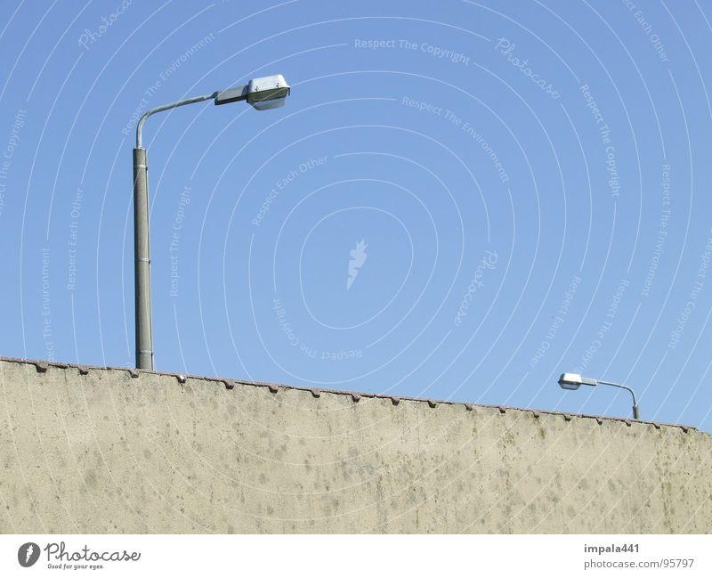 illumination Wall (building) Lantern Street lighting Light Progress 2 Small Large Brick Plaster Wall (barrier) Fortress Derelict Sky Blue Lighting Size Line