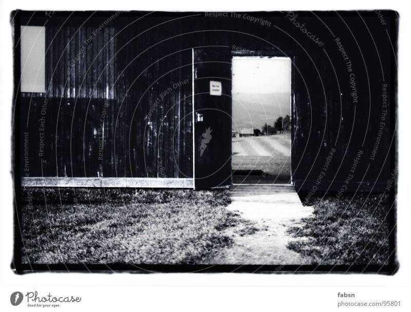 DOOR OPEN DOOR CLOSED Nature Wall (building) Wood Decompose Grass Meadow Ambiguous Derelict Trust Black & white photo Door Old Mountain Landscape Lawn Alps Curl