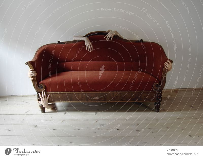 Hand Red Calm Room Fear Arm Flat (apartment) Retro Threat Sofa Mysterious Exceptional Touch Hide