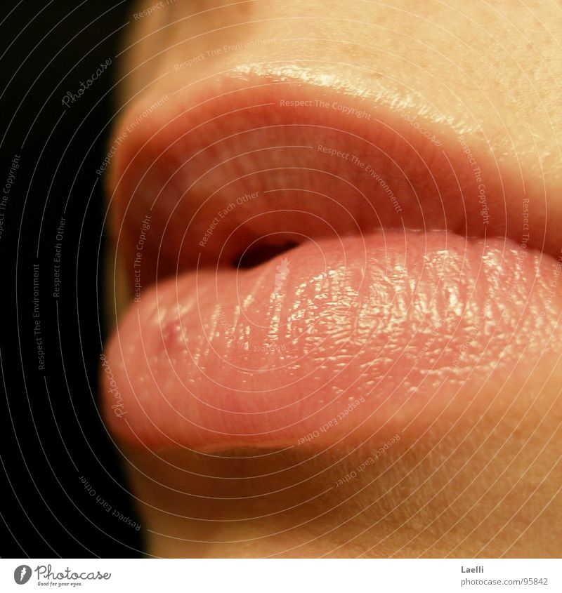 ...don't say anything... Pink Woman Lips Mouth Skin Bright Calm Dark background