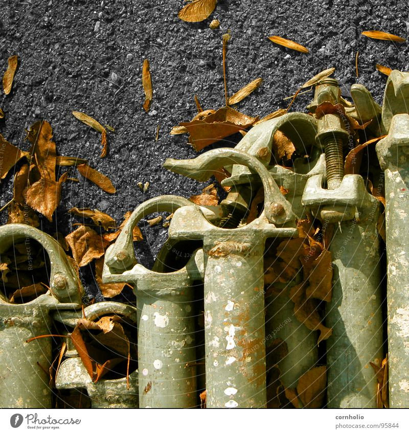 Leaf Autumn Concrete Long Steel Obscure Iron-pipe Screw Tin Scaffold Closure Scaffolder
