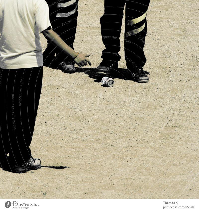 Child Black Yellow Playing Boy (child) Sand Park Footwear Stripe Pants Traffic infrastructure Student Tin Aluminium Pebble