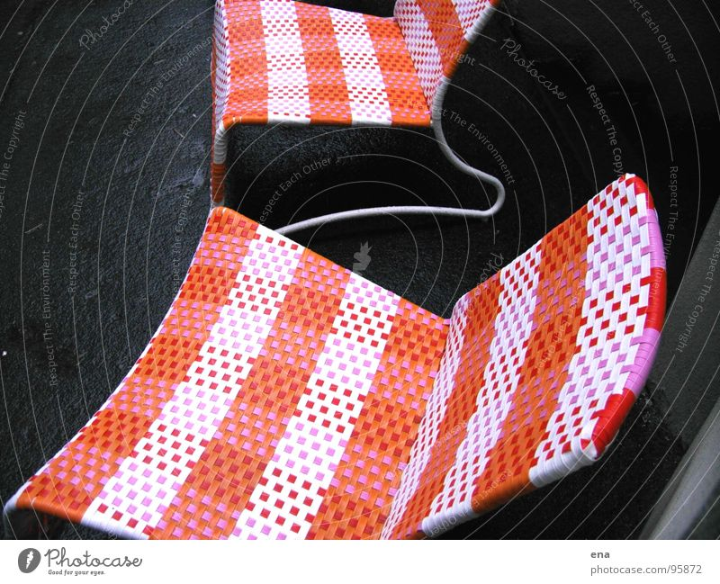 Autumn Line Orange Rain Sit Places Stand Perspective Break Corner Cloth Chair Plastic Asphalt Gastronomy Café