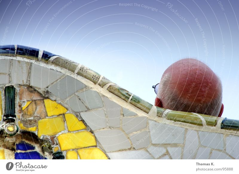 Sky Blue Sun Summer Joy Yellow Park Break Eyeglasses Tile Traffic infrastructure Barcelona Mosaic Rest 93