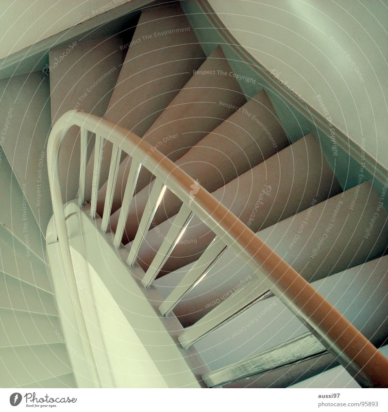 dowstairs Banister Hallway House (Residential Structure) Going Under Upward Downward Stairs Living or residing up go down go up