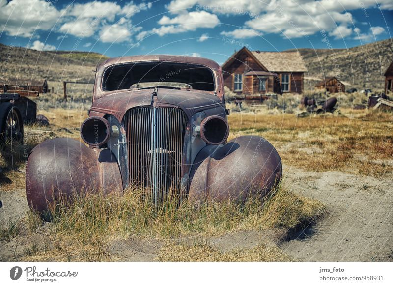 the old AUTO from Bodie Style Vacation & Travel Tourism Museum Means of transport Motoring Car Vintage car Adventure Whimsical Surrealism Past Transience Rust