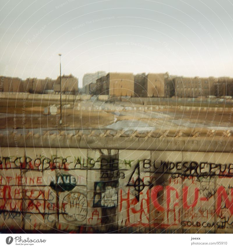 Berlin Death Freedom Sadness Wall (barrier) Graffiti Germany Going Might Gloomy Border Monument Past Division Historic GDR