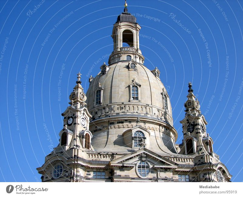 Sky Blue Stone Religion and faith Architecture Hope Roof Dresden Monument Past Manmade structures Historic War Christianity Saxony