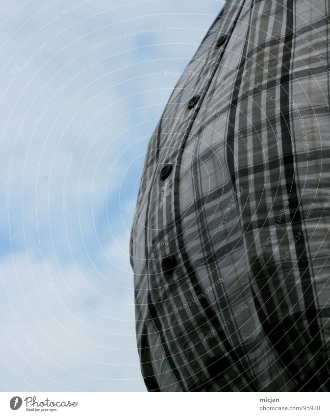 Human being Sky Man Joy Clouds Dark Large Closed Nutrition Balloon Round Overweight Shirt Sphere Fat Stupid