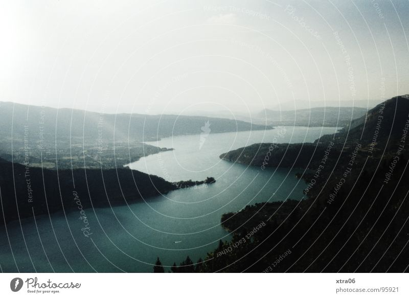 Water Sky Mountain Dream Fog Vantage point France Beautiful weather Mystic Phenomenon Body of water Annecy Lac d'Annecy