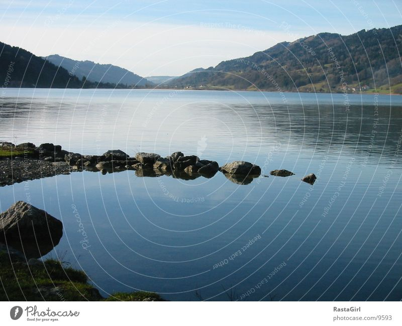 Water Blue Stone Lake Coast Wet
