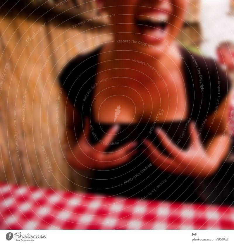 Woman Hand Joy Feminine Laughter Funny Moody Blonde Breasts Teeth Multicoloured Blur Chest Scream Joie de vivre (Vitality) Alcoholic drinks