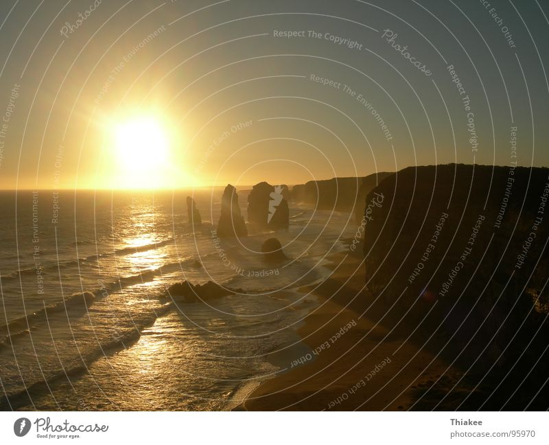 Twelve Apostles Australia Sunset Ocean Great Ocean Road Romance Beach Coast Paradise Relaxation