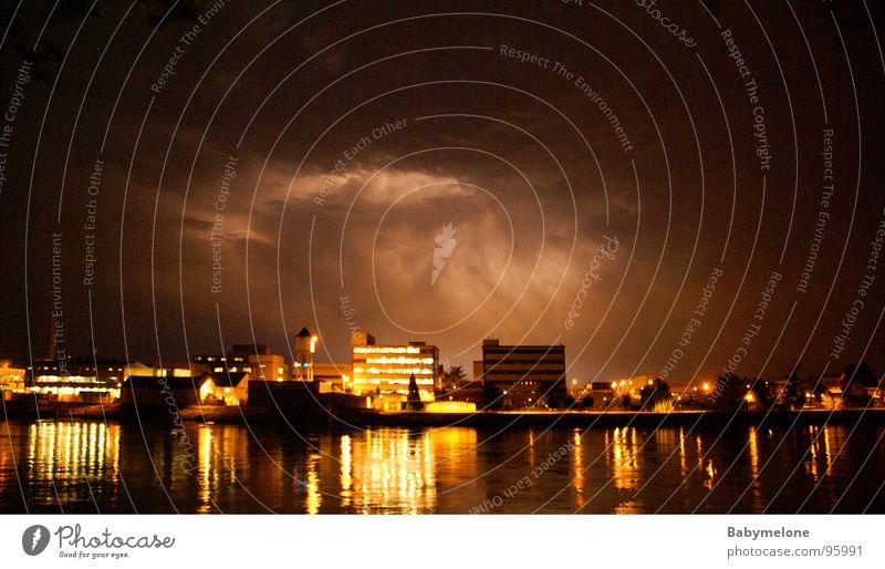 Thunder and lightning Storm Eerie Rhine Basel Aurora Borealis