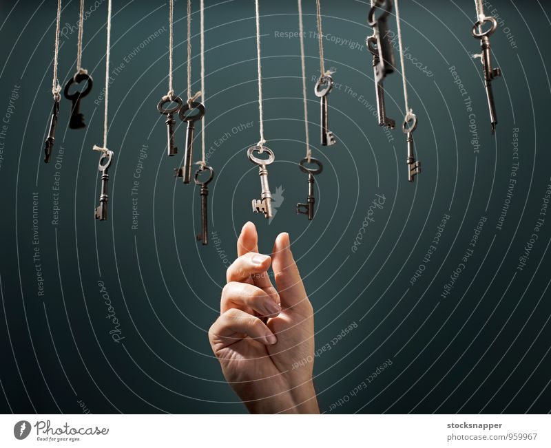 The Right Key chosen choice choose choosing Hanging Hand Prefer Preference Fingers Alternative Alternating Concepts &  Topics Conceptual design