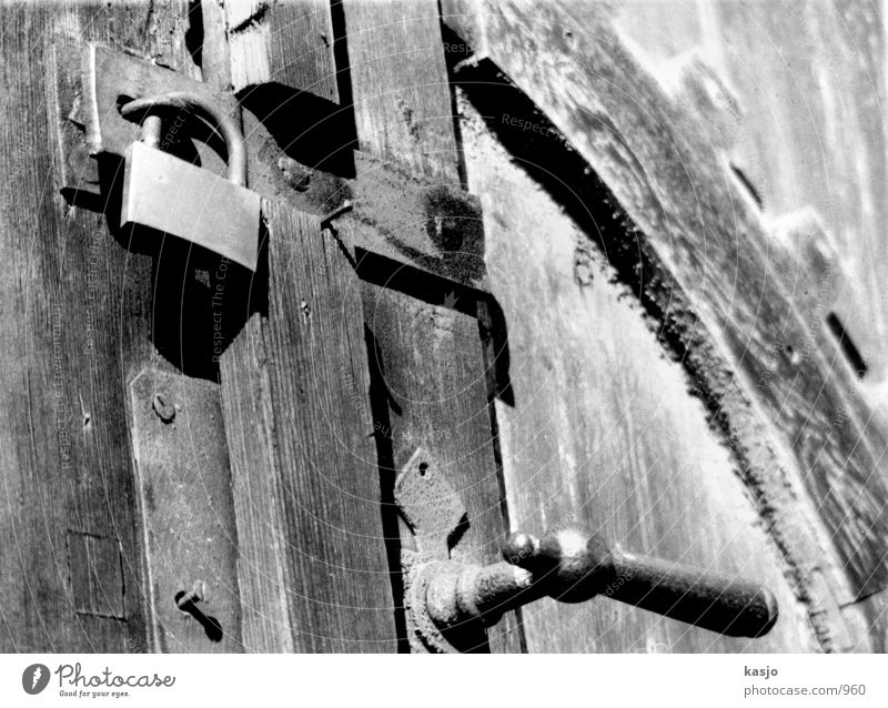 Old Door Wood Industry Castle Black & white photo