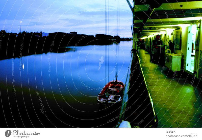 Green Blue Watercraft Moody Navigation Dusk Parking level Railing Dinghy
