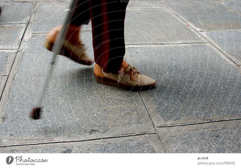 Senior citizen Street Footwear Lady Traffic infrastructure Retirement Walking aid Slowly Timeless Wary Creeping