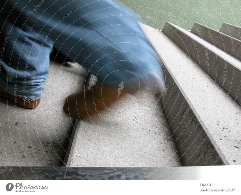 Human being Green Blue Black Going Walking Running Stairs Subsoil Underpass