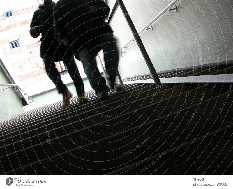 Human being Green Black Going Walking Stairs Stuttgart Subsoil Underpass