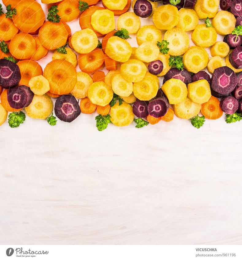 Colourful carrots cut and arranged . Food Vegetable Herbs and spices Nutrition Organic produce Vegetarian diet Diet Style Design Healthy Eating Life
