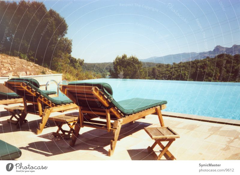 Water Vacation & Travel Relaxation Europe Swimming pool France Cote d'Azur Deckchair Cannes