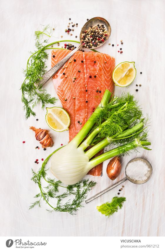 Healthy Eating Life Background picture Food Pink Lifestyle Flat (apartment) Leisure and hobbies Design Nutrition Cooking & Baking Fish Herbs and spices