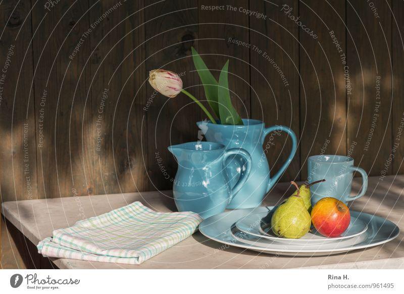 Blue Fruit Beautiful weather Apple Crockery Plate Tulip Vase Mug Pear Dish towel