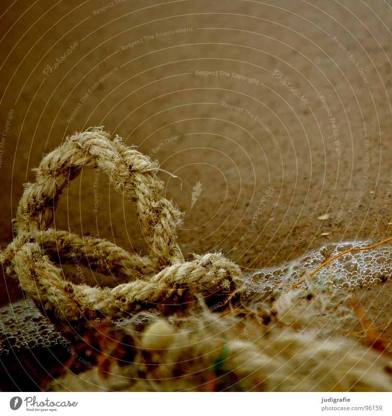 Water Old Beach Sand Watercraft Brown Feasts & Celebrations Coast Rope Broken End Transience Derelict Knot Thread Maritime