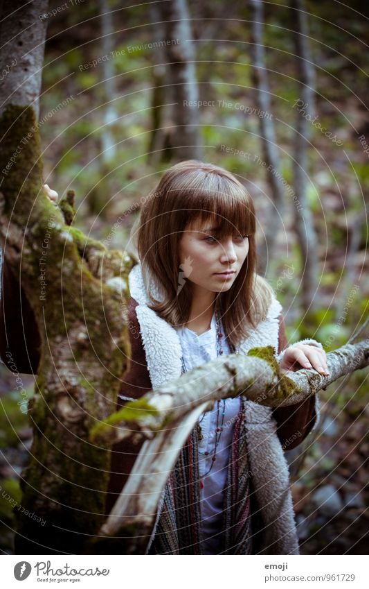 Human being Nature Youth (Young adults) Young woman 18 - 30 years Dark Environment Adults Autumn Feminine Natural