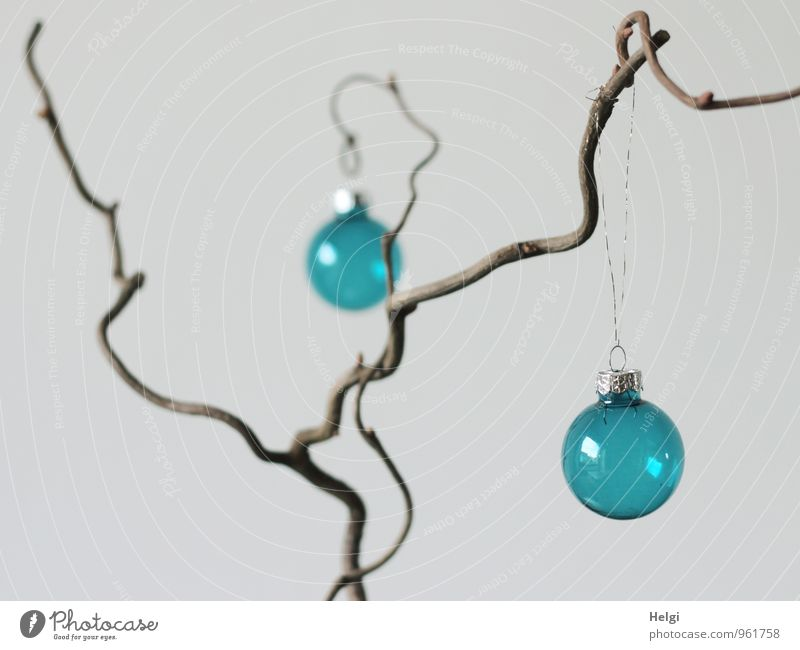 clearly arranged... Feasts & Celebrations Christmas & Advent Twig Decoration Glitter Ball Wood Glass Hang Living or residing Exceptional Simple Beautiful