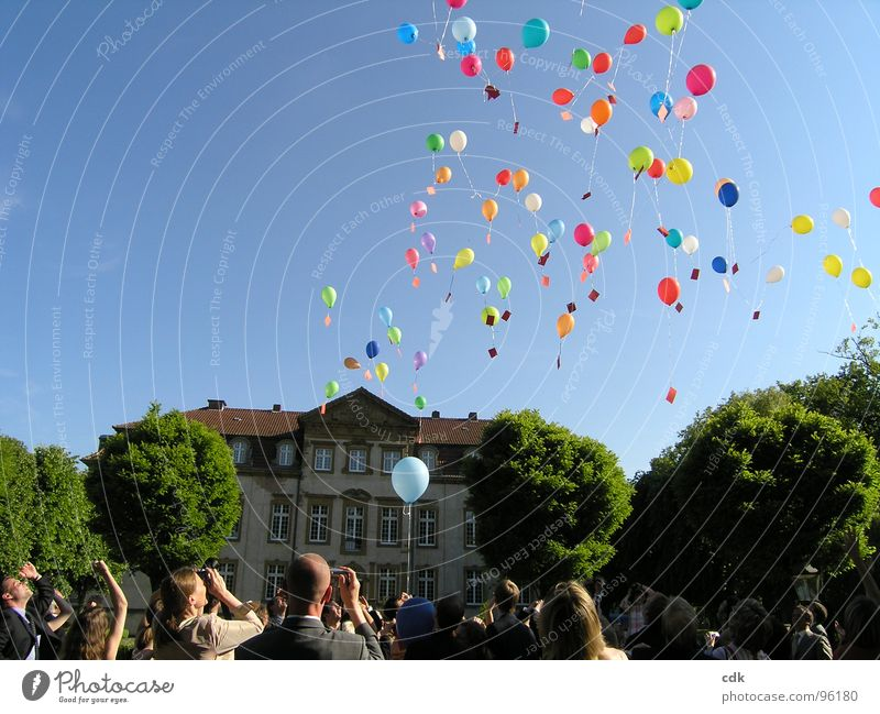 airmail Part II Wedding party Society Together Simultaneous Crowd of people Balloon Airmail Information Letter (Mail) Desire Promise To talk Playing Tradition