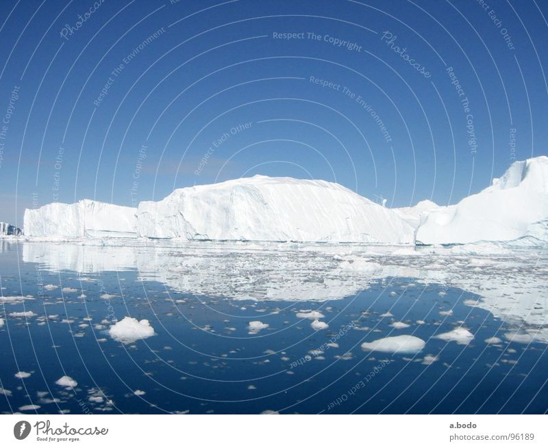 Sky Ocean Summer Snow Mountain Alpine pasture Iceberg Scandinavia Greenland Jakobshavn