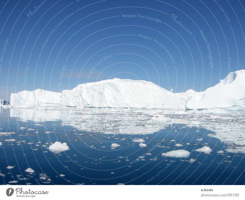 Sky Ocean Summer Snow Mountain Alpine pasture Iceberg Scandinavia Greenland Jakobshavn