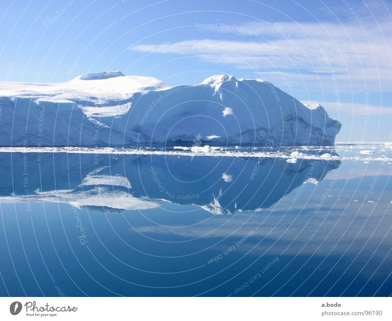 Cool Water V Greenland Jakobshavn Iceberg Ocean Summer Sky Mountain Greenland Disko Bay greenland-discobay growler Alpine pasture mountains Sun Snow
