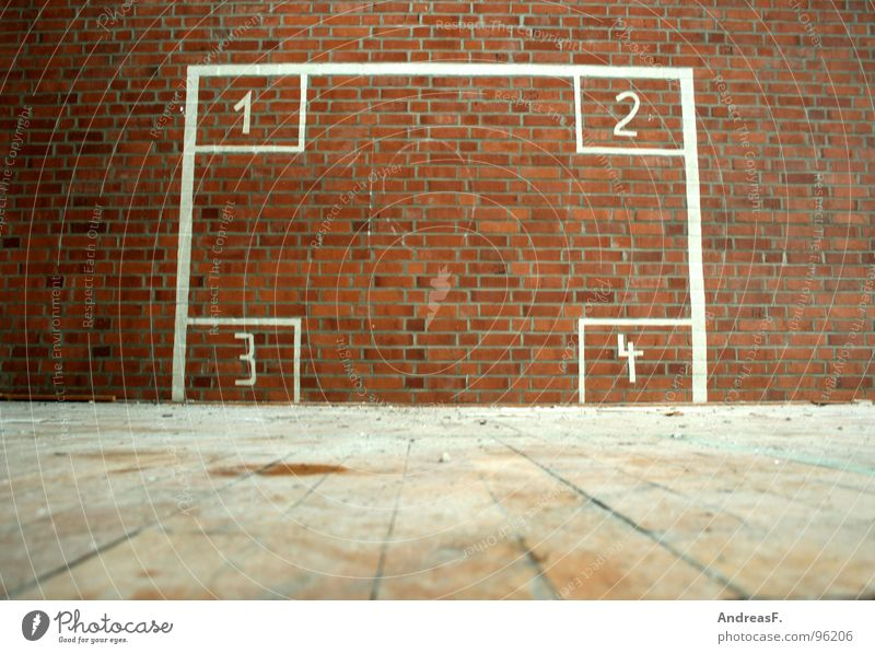 Loneliness 1 Sports Wall (building) Wall (barrier) 2 3 Study Digits and numbers Ball 4 Derelict Brick Gate Ruin Throw