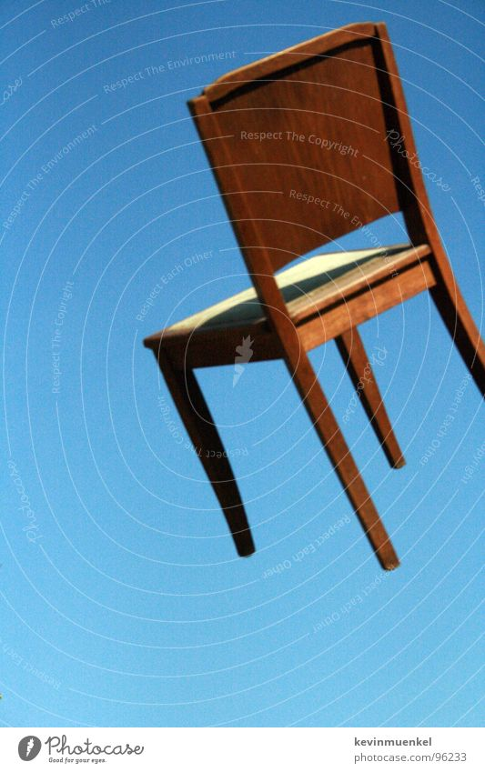 Sky Blue Summer Wood Chair Hover Zoom effect