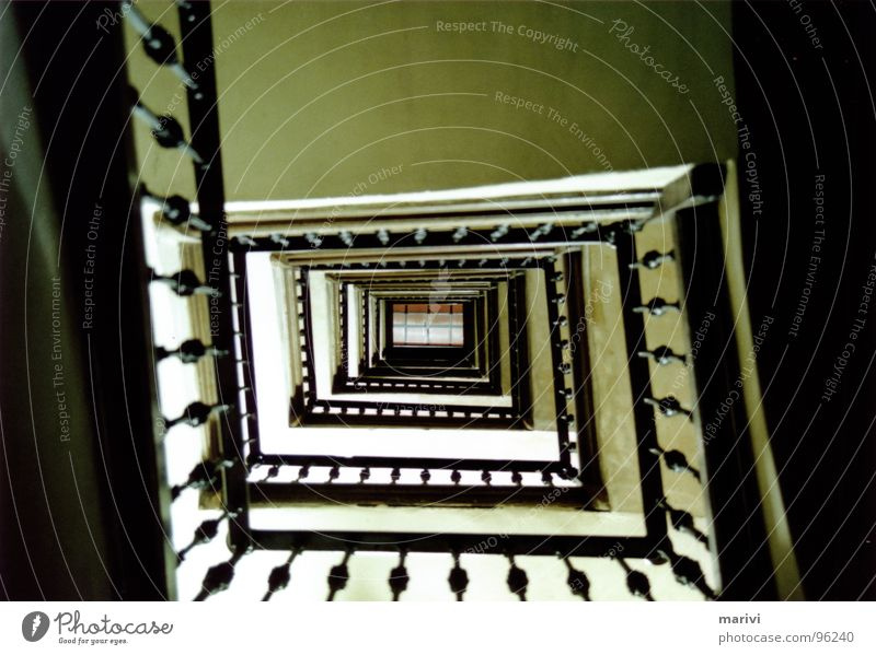 on the way up House (Residential Structure) Spiral Barcelona Infinity Spain Historic Stairs Handrail Above