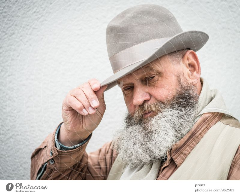 Ede 2 Human being Masculine Man Adults Male senior Facial hair 1 45 - 60 years Gray Hat Old Colour photo Exterior shot Copy Space left Day