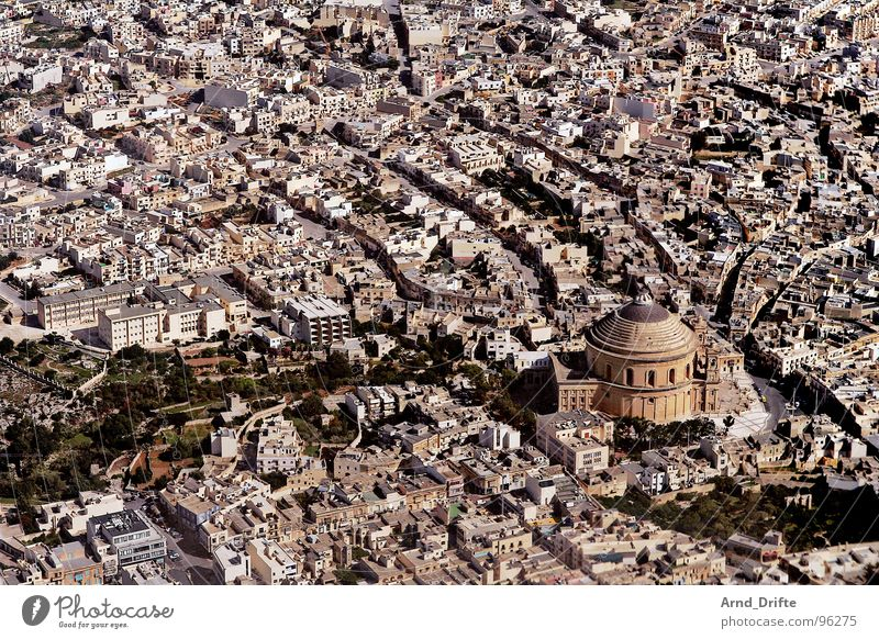 City House (Residential Structure) Street Europe Airplane landing Aerial photograph Malta Valetta