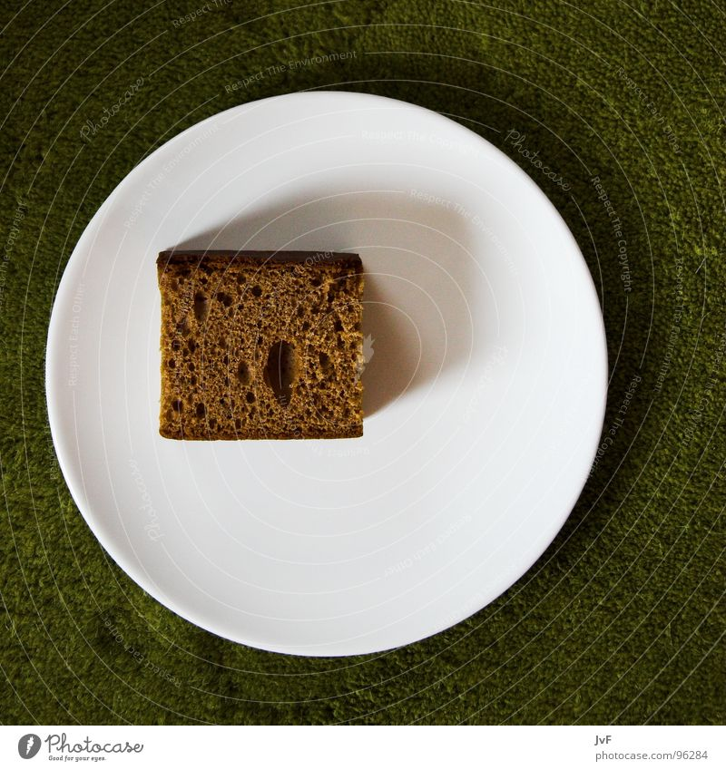meagre meal Bread Gingerbread Green White Plate Meal Pathetic Carpet Breakfast Appetite Brown Baked goods Nutrition Penitentiary