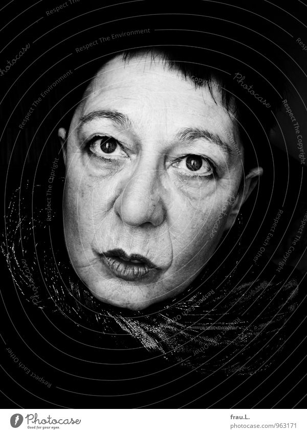 Human being Woman Dark Adults Face Sadness Senior citizen Emotions Feminine Fear 45 - 60 years Uniqueness Female senior Wrinkle Irritation Feeble