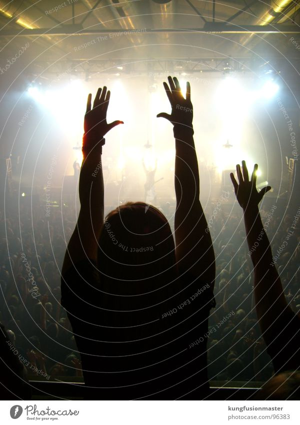 Concert photo of death Nin Stage Music Hand Fingers 15 Light Earplugs Media Joy nine inch nails trent reznor Rock music industrial Shadow Silhouette cross-fade
