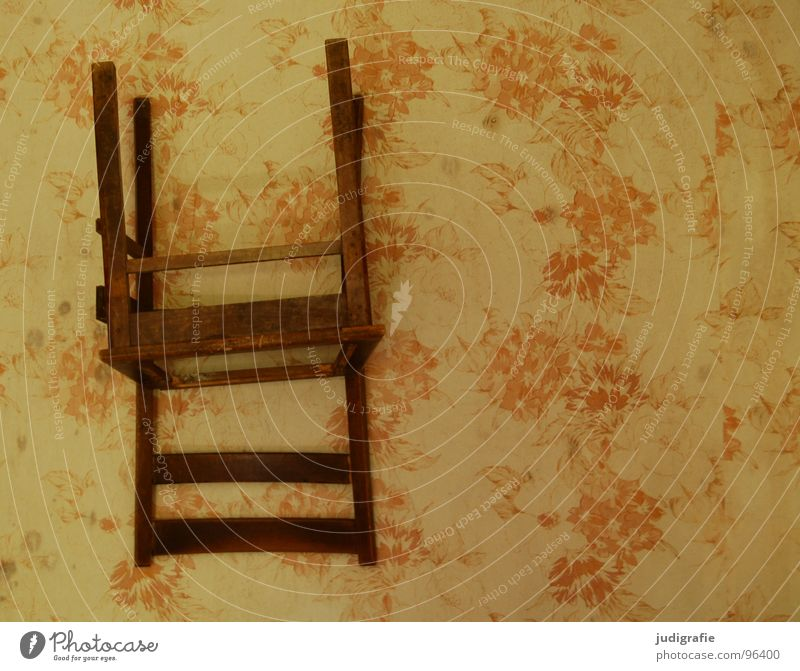 Old Wall (building) Wood Brown Room Decoration Chair Derelict Wallpaper Tilt Furniture Rotate Seating Obscure Inverted Yellowed