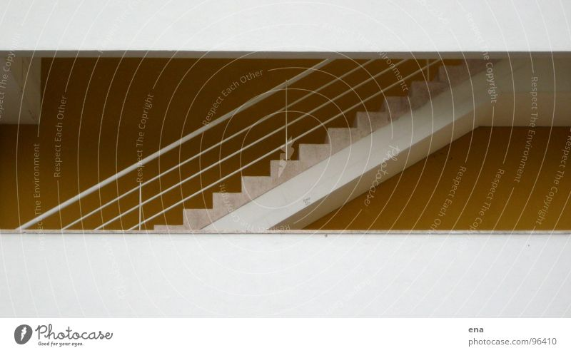 Yellow Architecture Lanes & trails Wall (barrier) Feet Facade Concrete Tall Stairs Modern Level String Handrail Box Story