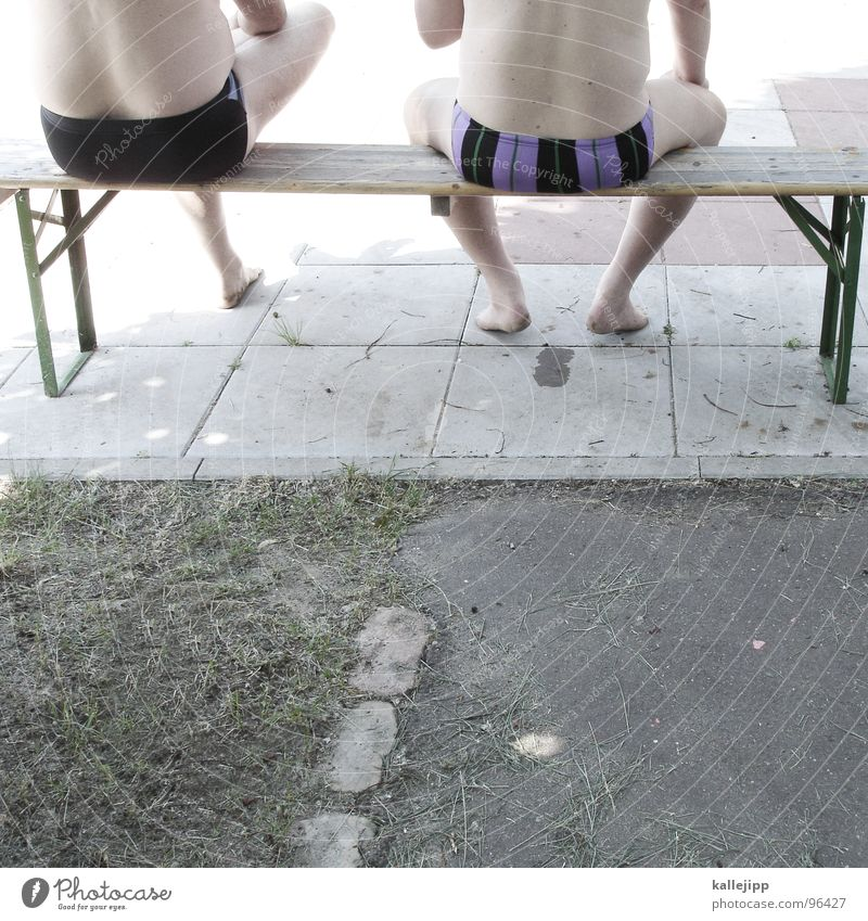 Man Nature Summer To talk Garden Back Sit Swimming & Bathing Skin Masculine Stripe Swimming pool Hind quarters Hot Crouch Swimming trunks